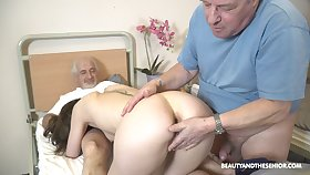 Sweet nurse pleases these elderly guys with one last lose one's heart to