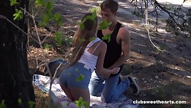 Nice outdoors fucking in the local forest with charming Alex Diaz