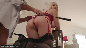 Ass whipped and secured take during sex for a complete maledom