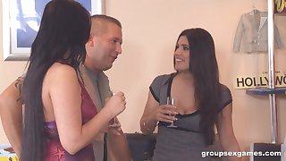 Simony Diamond in a group sex party with her teen friends