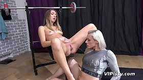 Brittany Bardot And Victoria Puppy Pissing in the gym